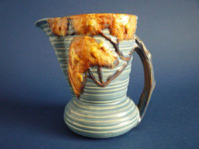 Unusual Carlton Ware Art Deco 'Night Oak' Flower Jug c1935